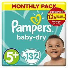 Pampers Baby Dry Nappies Size 5 - 132 Nappies