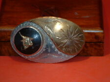 Pre-Owned Vintage Gold & Silver Bull Belt Buckle