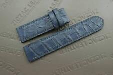 22mm/22mm Blue Genuine ALLIGATOR, CROCODILE SKIN WATCH STRAP BAND for Panerai
