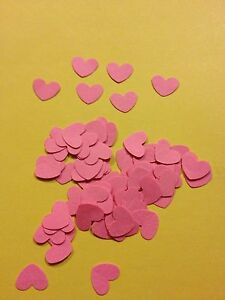 100 small Pink Valentines hearts wedding crafts, scrapbooking, table confetti