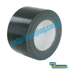 1 x BIG WIDE LONG Black Gaffer Gaffa Duck Duct Cloth Tape 72mm x 50m HEAVY DUTY
