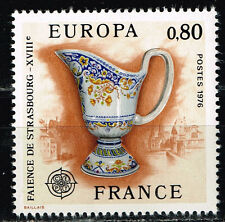 France Art Famous Strasbourg Faience stamp Europe Cert 1976 MNH