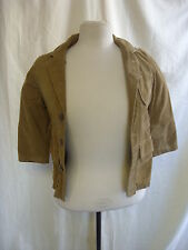 Girls Jacket - GAP, size XS, brown, pin cord, elbow patches, used/ worn - 7807