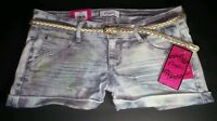 NEW CANDIES LIGHT JEAN GLITTER SPARKLY TIE DYE SIZE 0 JEAN SHORTS Retails at $38