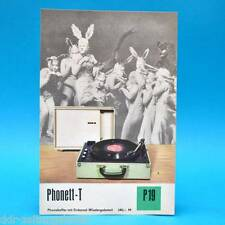 Phonett-T Phonokoffer DDR 1970 | Prospekt Werbung Werbeblatt DEWAG P19 B