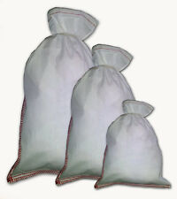 12 x 16 Heavy Duty Double Stitched 100% Cotton Cloth Bags - 10 Lot