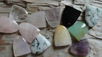 "Assorted Tongue Set BBBBB (pkg 12) stone piece for wire wrapping 1/2"" x 3/4"""