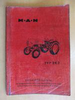 Ersatzteilliste MAN Schlepper 2K2 Fahrgestell auch mit Schaltplan