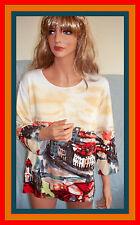 XL R$60 Elizabeth New York Scenic Print Pullover Top Shirt Tunic T-shirt Xlarge
