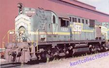 Lake Superior & Ishpeming ALCO RS12 switcher locomotive train railroad postcard