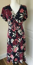 Croft & Barrow Women's Dress Vintage Floral   Multi-Color   Size Large