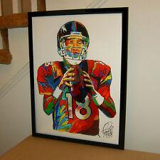 Peyton Manning Denver Broncos Quarterback Football Poster Print Wall Art 18x24