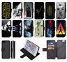 STAR WARS DARTH VADER LUKE SKYWALKER Wallet Flip Phone Case Galaxy S6 to S10