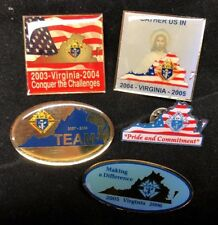 Knights of Columbus Pin Lot of 5 VIRGINIA Flag Conquer the Challenges