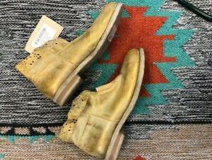 "Sundance Catalog ""Stargazer"" Boots Women's Gold New"