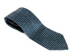 Authentic GUCCI 100% Seta Silk Soie Men's Blue Necktie Good Made in Italy Used