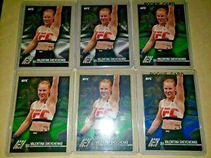 2017 Topps UFC Knockout Valentina Shevchenko RC lot 6x cards