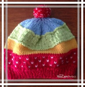 Gorgeous Handknitted beanie for 4 year old