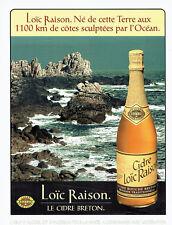 Publicité Advertising 018  1996  cidre breton Loic Raison