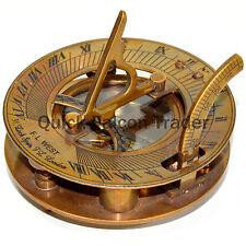 Premium Quality Nautical Antique Brass Sundial Compass w/ Spirit Level Sun Clock