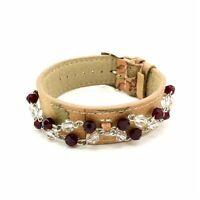 ALVIERO MARTINI PRIMA CLASSE bracciale donna JPC110/13 pelle perle cristalli new