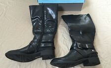 NEW LifeStride Women's Racey Riding Boot Black 5.5 M Wide Shaft