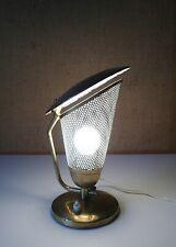 LAMPE BUREAU EN METAL PERFOREE ET BRONZE DANS LE GOUT DE BINY DESIGN ANNEES 50
