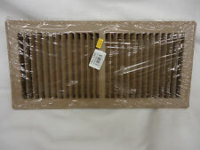 """Brown Metal Floor Register 6"""" X 14"""" For Home RV Mobile Home-Heavy Duty"""
