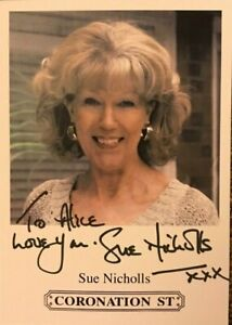 Sue Nicholls (Eastenders) -  autographed hand signed photograph with COA