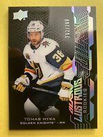 2018-19 Upper Deck UD Black Lustrous Rookies #LR-TH Tomas Hyka 202/299 Vegas RC