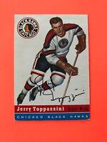 JERRY TOPPAZZINI 1954-55 TOPPS HOCKEY CARD #21 CHICAGO BLACK HAWKS
