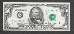 1969C $50 A00138119* Star Note, Short run of ONLY 64,000 printed, AU/CU