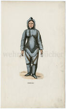 C 1844, Eskimo woman, Orig. handcoloured woodcut.