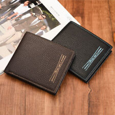 Men Bifold Leather Credit Id Card Holder Wallet Billfold Purse Clutch Billfold