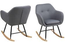PKlline Schaukelstuhl in grau Schwingstuhl Ruhesessel Stuhl Eiche/Grau