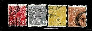 HICK GIRL-USED AUSTRALIA STAMP   SC#116-18,120  1931-36 KING GEORGE V      D965