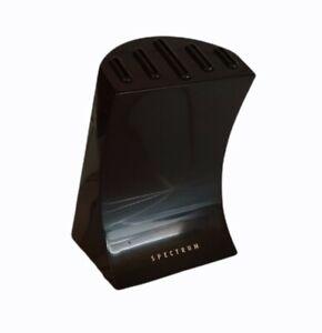 spectrum metal holder 5 slots kitchen wear home storage black knife block