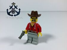 Lego Vintage Minifigure Western Cowboys Bandit Outlaw with Revolver