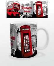 LONDON-RED BUS COLLAGE 11 OZ COFFEE MUG ENGLAND UK DECOR SUPPLY TEA CUP CITY!!!!