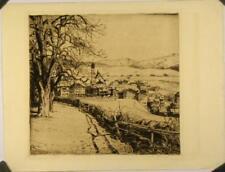 Eau-forte XIXe, Paysage suisse