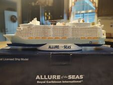 """Allure of the Seas Model Cruise Ship. Royal Carribean,12"""" Resin, NEW IN BOX"""