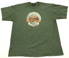 VINTAGE Yellowstone National Park Shirt Size Extra Large Green Prairie Mountain