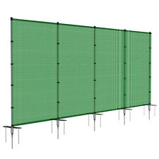 Green 6ft Outdoor Mesh Fence w/Pole Movable Freestanding Backyard Pool Fencing