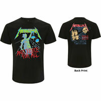 METALLICA Justice for All Backprint Mens T Shirt Unisex Tee Official Band Merch