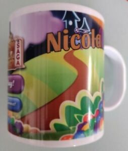 Candy Crush Polymer Mug with or without personalisation Ideal Gift UK