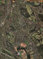 SANDERSTEAD. South Croydon Croham Hurst Woods Purley Downs Golf Course 2000 map