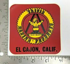 Vintage 80's Trivic Motorcycle Racing Products Sticker El Cajon California