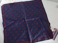 BNWT Jack Wills Plumptree Pheasant 100% Silk Pocket Square Handkerchief Hankie