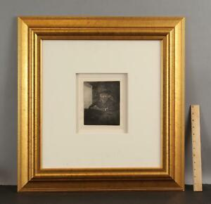 Authentic Rembrandt Self Portrait Copper Engraving, Limited Millennium Edition