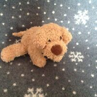 """MARKS & SPENCERS Brown Take me home Puppy Dog 8"""" Long Soft plush Comforter Toy"""